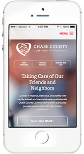 Chase County Hospital Website